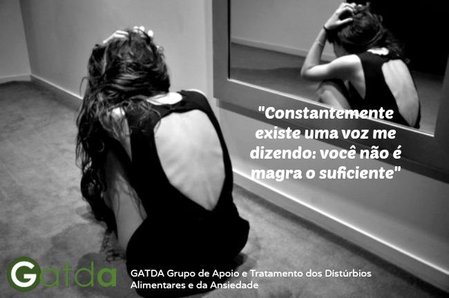 distúrbio alimentar anorexia GATDA