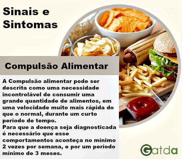 sinais sintomas e características da compulsão alimentar